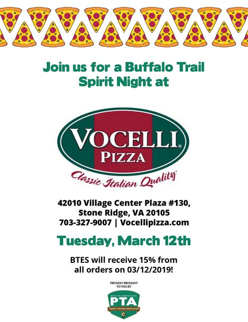 Pizza Spirit Night