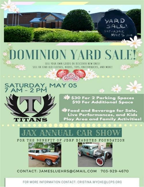 DHS YARD SALE AND CAR SHOW