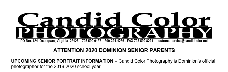 Senior Portrait Dates Announced for Class of 2020