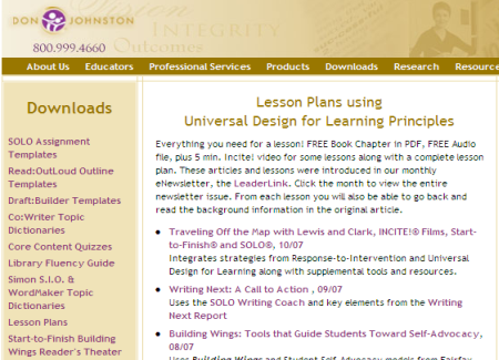 Assistive Technology Vsteudllessons - Universal design for learning lesson plan template