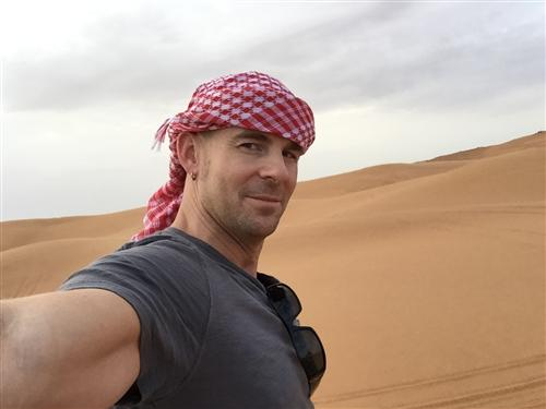 Keffiyeh in the Desert