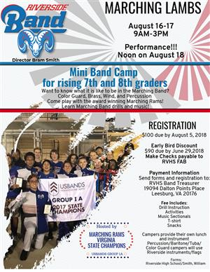 Riverside HS Mini Band Camp