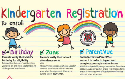 Virtual Kdg Registration - Email Registrar for Appt.
