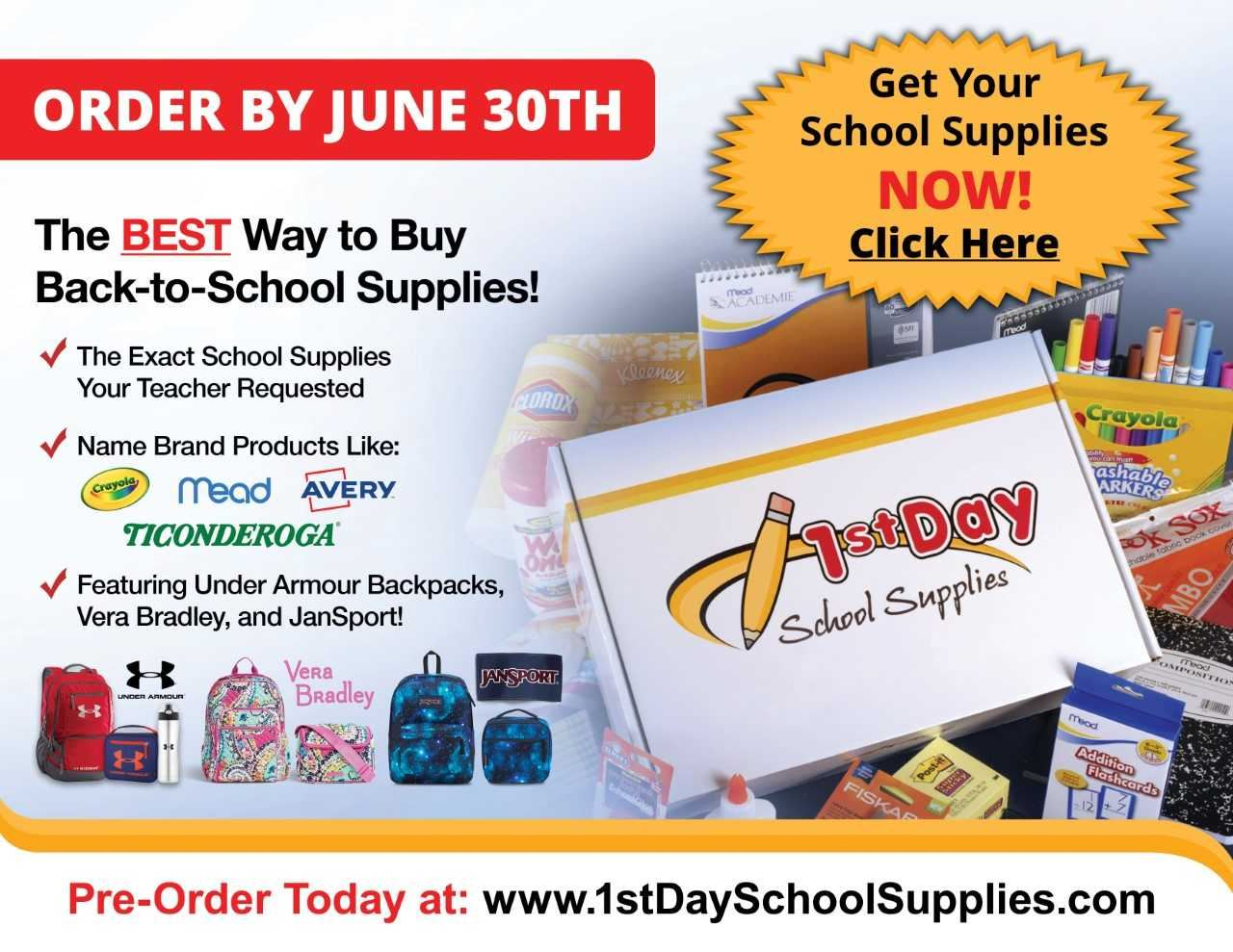 Pre Order School Supplies