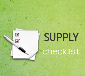 Supply Checklist