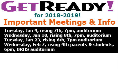 Mark you calendars for rising parent meetings