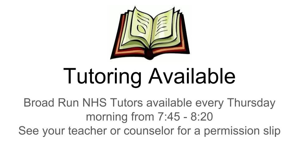 Broad Run NHS Tutors