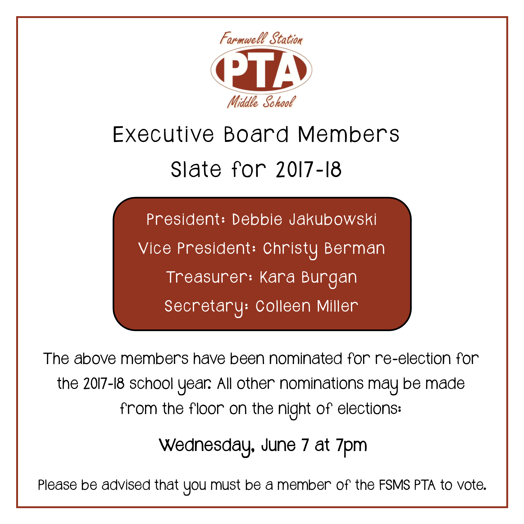 Pta Elections Flyer - Resume Examples | Resume Template