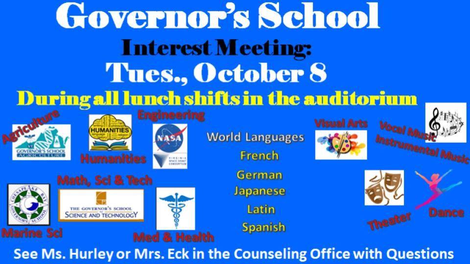 Governor's School Information