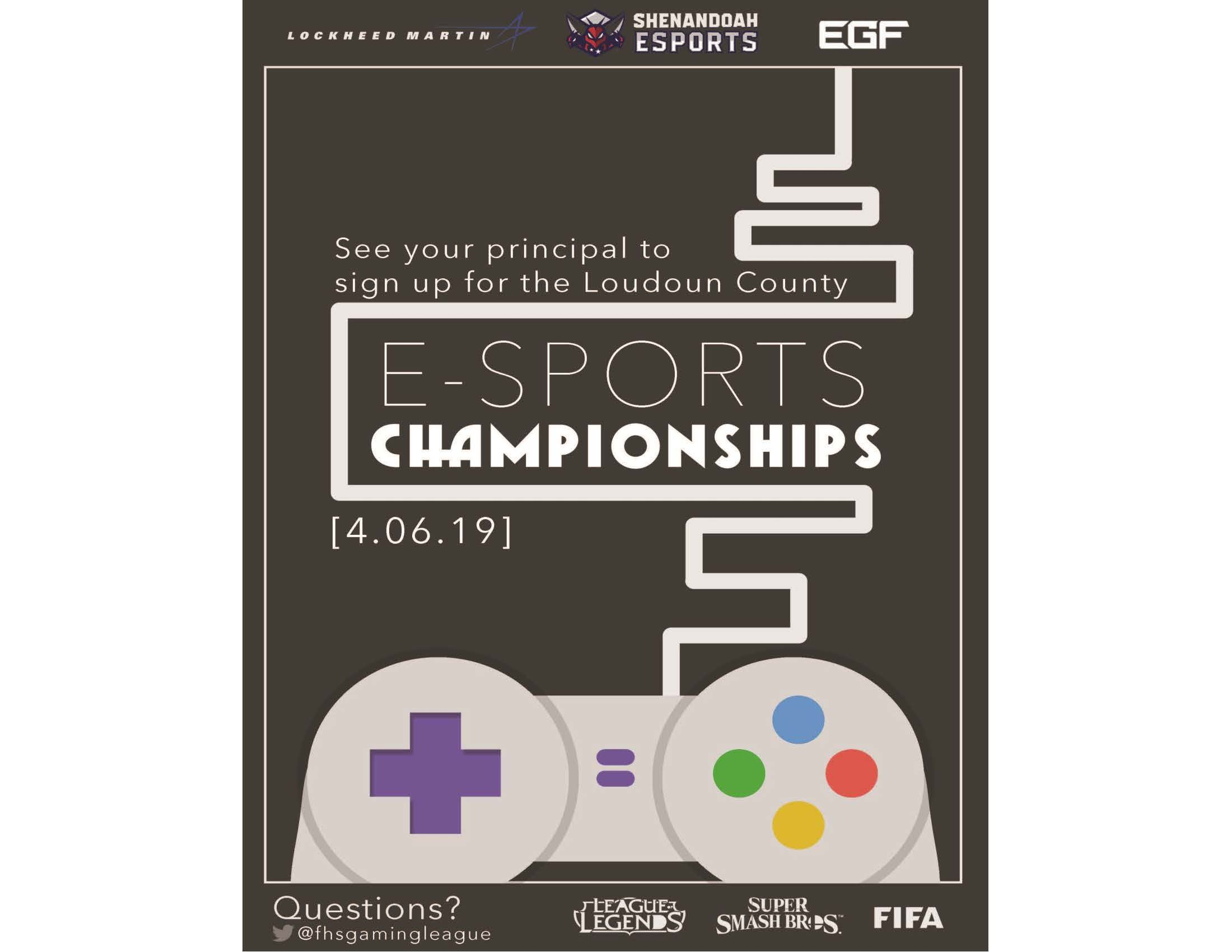 Loudoun County E-Sports Championships - April 6th