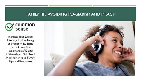 Family Tip: Avoiding Plagiarism and Piracy