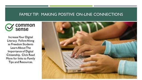 Family Tip:  Making Positive On-line Connections