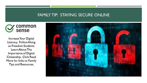 Family Tip:  Staying Secure Online