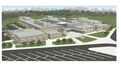 Architectural drawing for Brambleton Middle School