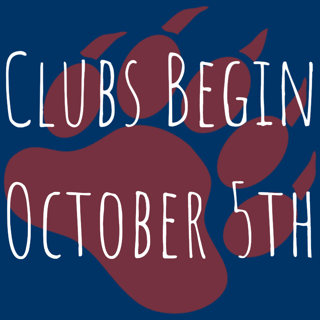 Clubs Begin October 5th