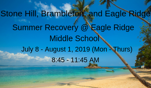 Summer Recovery 2019!