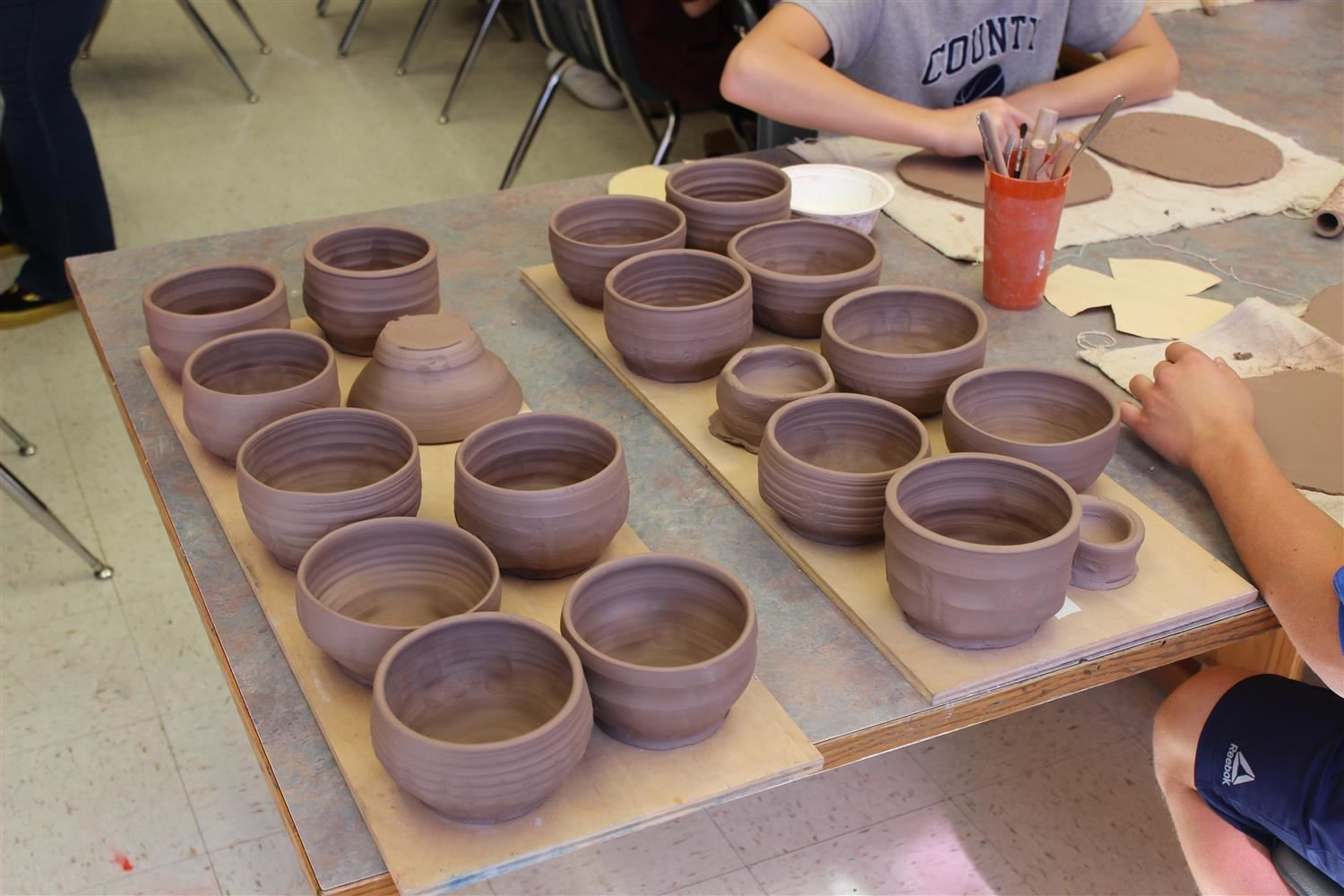 Artists Visit Harmony for Empty Bowl Project
