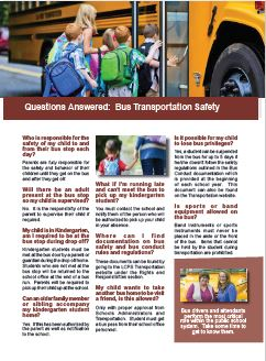 Questions Answered:  School Bus Safety