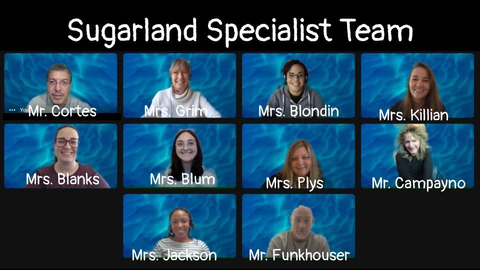 Sugarland Specialist Teachers