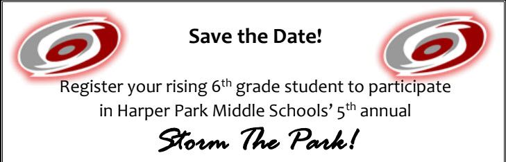 Save the Date:  Storm the Park