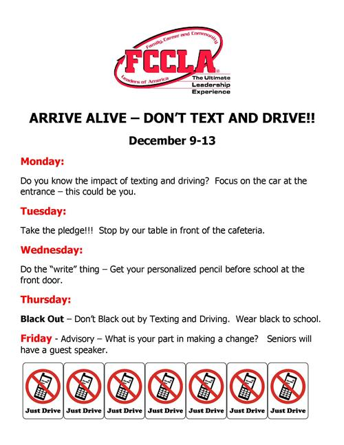 Arrive Alive - Don't Text and Drive!