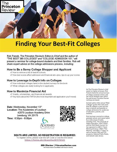 Finding your Best-fit College - Nov. 13