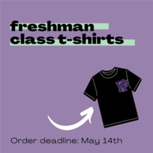 Freshmen T-shirts: Order by May 14