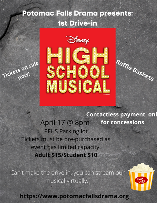 HS Musical Drive In: April 17 @ 8pm