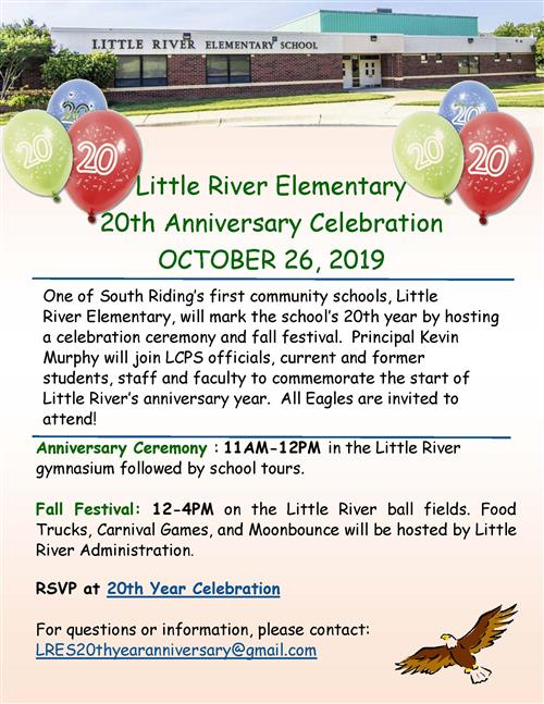 Little River ES 20th Anniversary Celebration October 26