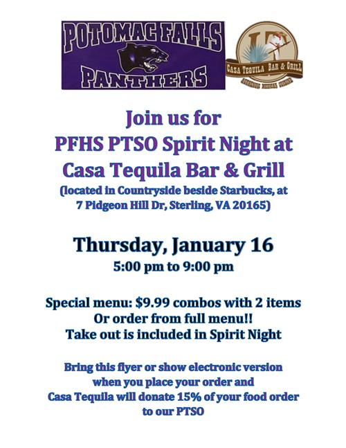 Casa Tequila Restaurant Night - Jan 16