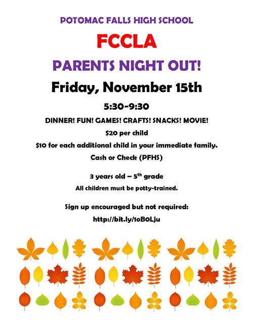 Parents Night Out - Nov. 15