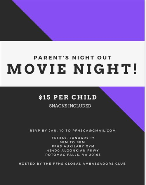 Parent's Night Out - Jan. 17