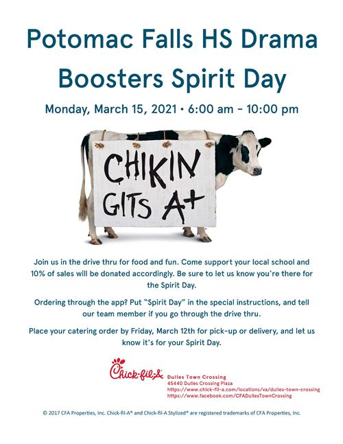 Chick Ail A Spirit Day - March 15