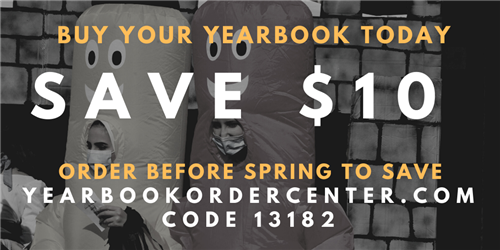 Buy Yearbook before spring with code 13182
