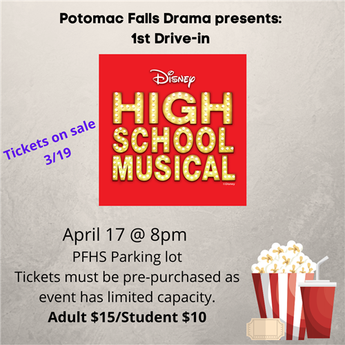 High School Musical Drive-In: April 17th