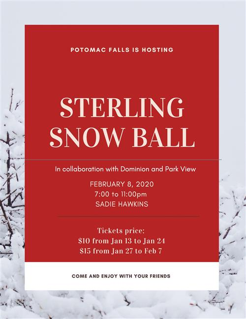 Sterling Snow Ball - Feb. 8