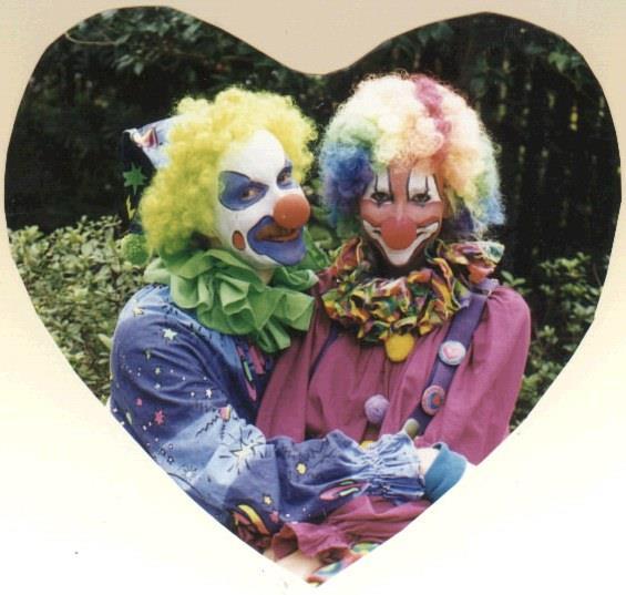 Mr. and Mrs. Knor Clowning Around