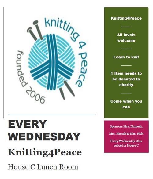 Knitting 4 Peace Club / 2018-19 Knitting Club