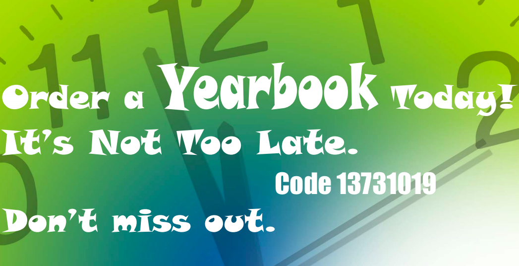Yearbooks Now on Sale!  Use Code 13731019
