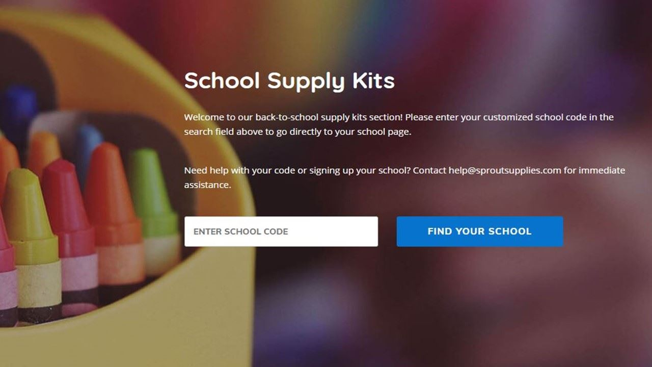Pre-order School Supplies with code GPES001