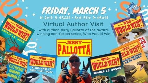 March 5th Author Visit with Jerry Pallotta