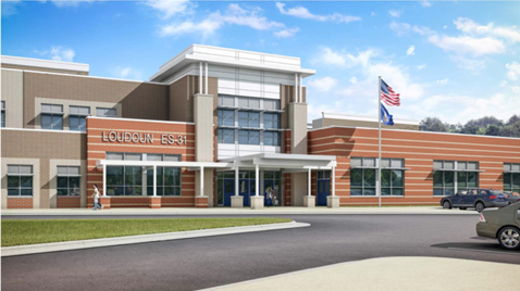 Rendering of Waxpool Elementary School, 42560 Black Angus Drive, Ashburn Va. 20148