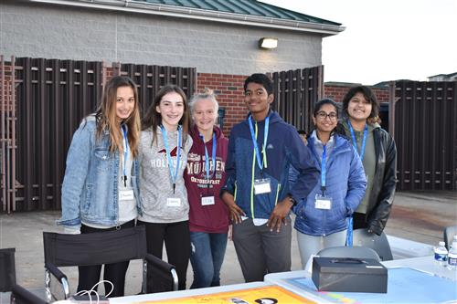 Some of the NJHS volunteers at the Bonfire