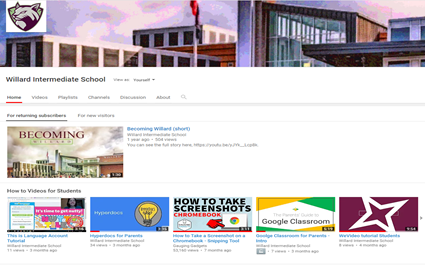 Willard on YouTube - tutorial videos for WMS Students