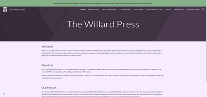 The Willard Press | Check out the latest edition of the Willard School Newspaper