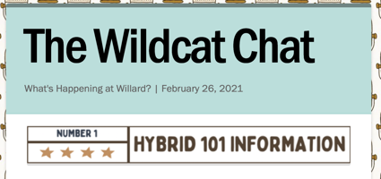 Wildcat Chat | What's Happening at Willard? | February 26, 2021