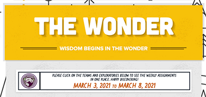 The Wonder | March 3 - March 8, 2021
