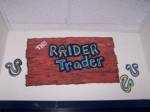 The Raider Trader Sign