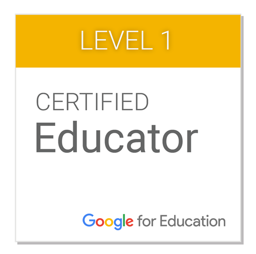 Google Certified Educator, Level 1
