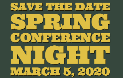 Save the Date!  Spring Conference Nigh March 5, 2020